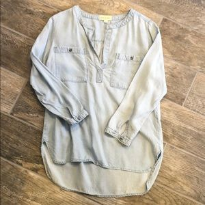 Cloth & Stone chambray tencel popover tunic small